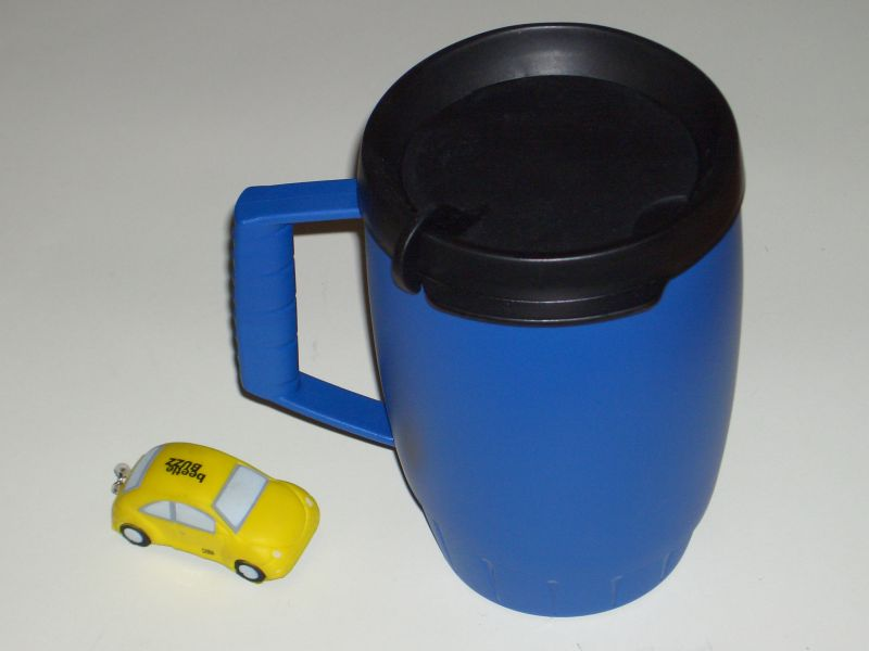 Insulated cup with VW
