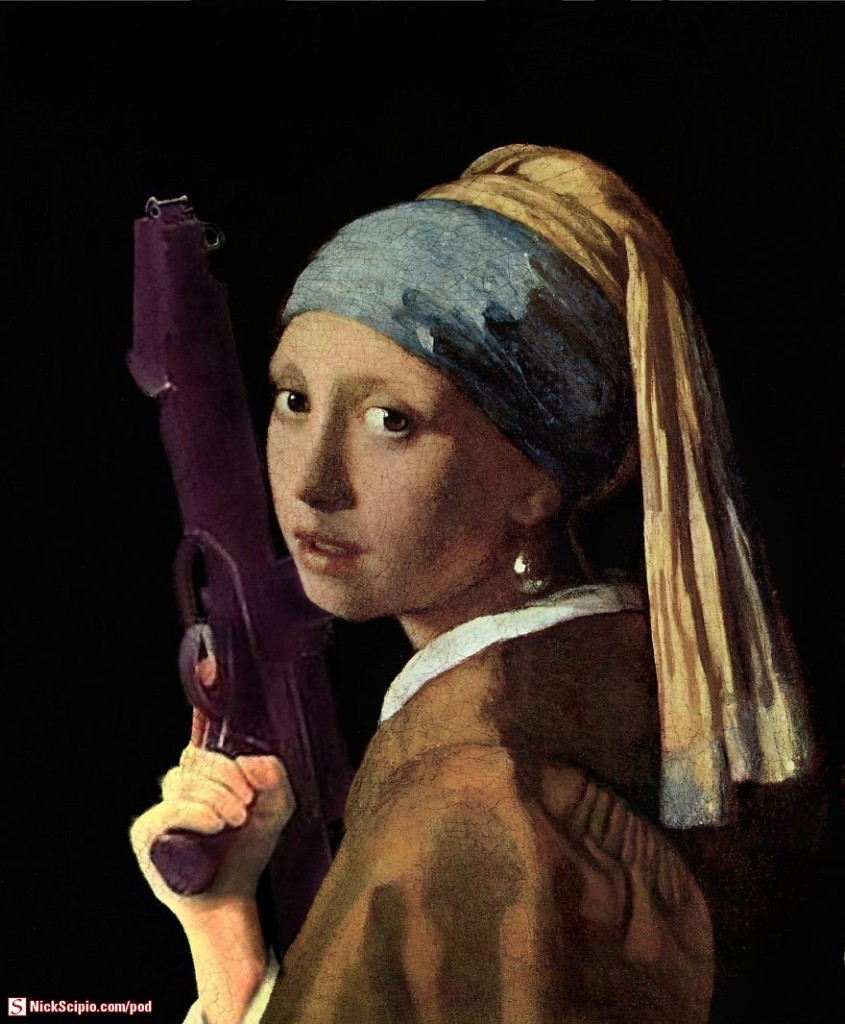 Girl-with-a-Pearl-Earring-and-a-blaster